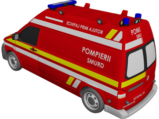Volkswagen Transporter T5 Ambulance (2013) CAD 3D Model