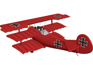 Triplane German CAD 3D Model
