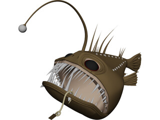Angler Fish Angus CAD 3D Model