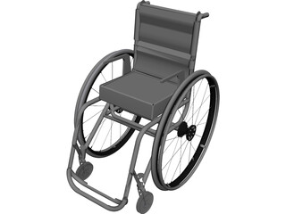 Wheel Chair CAD 3D Model