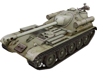 SU-101 UralMash Russian WW2 Tank 3D Model