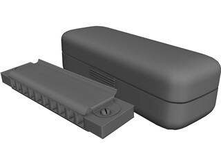 Blues Harmonica 3D Model 3D Preview