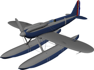 Supermarine S.6B 3D Model 3D Preview