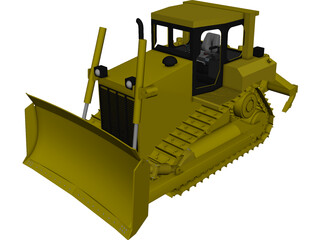 Caterpillar D6R Bulldozer CAD 3D Model