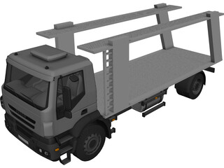 Iveco Trakker Car Carrier 3D Model