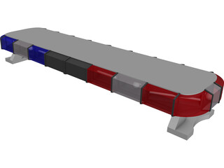 Whelen Edge Police Lightbar 3D Model