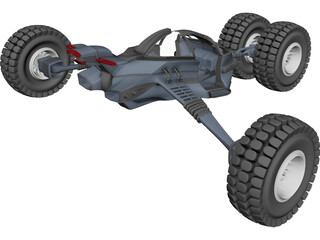 Future Buggy Vehicle 3D Model