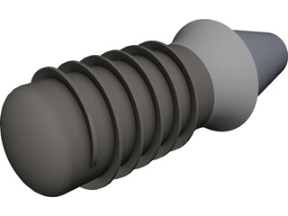 Dental Implant with Abutement CAD 3D Model