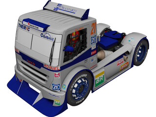Iveco Stralis Dakarmotors 3D Model