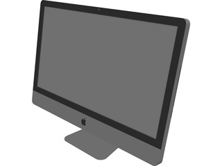 Apple iMac 27 Inch Monitor 3D Model