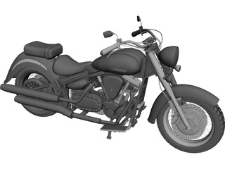 Yamaha XV1600A 3D Model 3D Preview