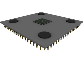 AMD Athlon XP 2100+ Processor 3D Model