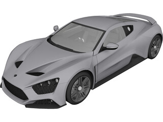 Zenvo ST1 (2010) 3D Model