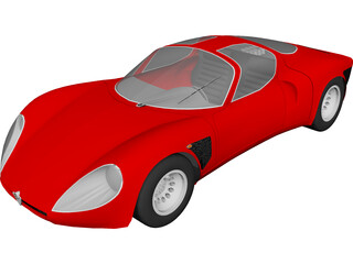 Alfa Romeo 33 Stradale 3D Model 3D Preview