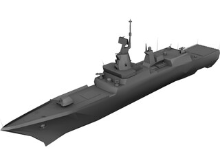 Steregushchiy Battle Ship 3D Model