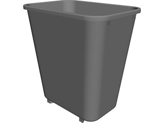 Trash Can CAD 3D Model