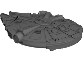Star Wars Millenium Falcon YT-1300 CAD 3D Model