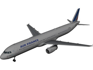 Airbus A320 Air France 3D Model 3D Preview