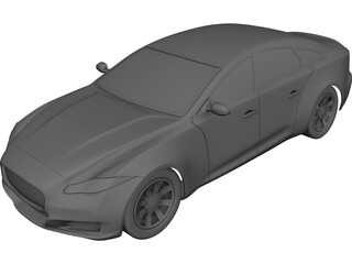Jaguar XJ (2012) CAD 3D Model
