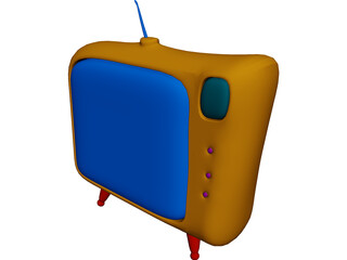 Cartoon TV 3D Model