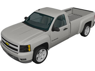 Chevrolet Silverado 2500HD Regular Cab LTZ (2009) 3D Model
