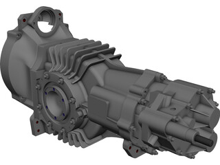Mendeola MD5 Gearbox CAD 3D Model