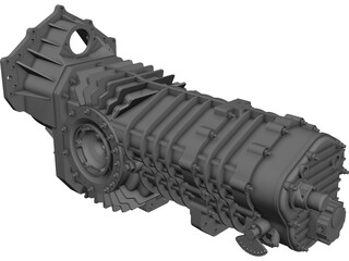 Mendeola HD Gearbox CAD 3D Model