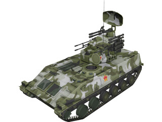 PGZ-95 AA Iron Dove Modern Chinese 3D Model