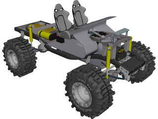 Tamiya Mountain Rider RC Truck CAD 3D Model