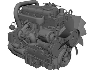 Perkins 1104d CAD 3D Model