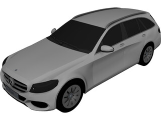 Mercedes-Benz C-Class Estate (2014) 3D Model