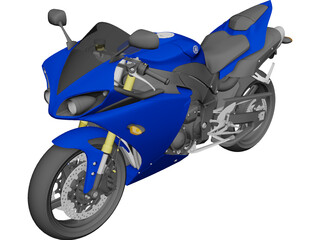 Yamaha R1 (2010) 3D Model 3D Preview