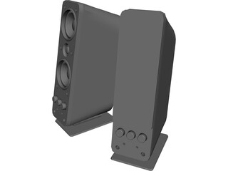 Creative Gigaworks T40 Speakers 3D Model
