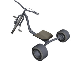 Drift Trike CAD 3D Model