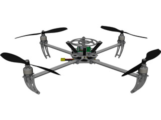 Talon Quad RC Heli Drone CAD 3D Model