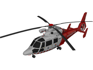 Eurocopter AS-365 Air Ambulance 3D Model