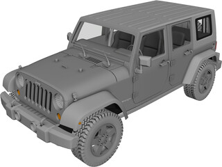 Jeep Wrangler Unlimited 3D Model