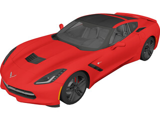 Chevrolet Corvette Stingray C7 (2014) 3D Model