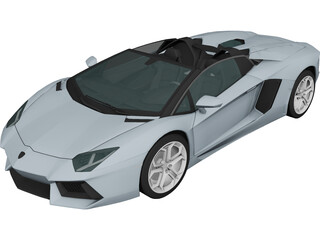 Lamborghini Aventador LP-700 Roadster (2014) 3D Model