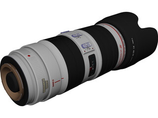 Canon EF 70-200mm f/2.8 L IS USM Lens CAD 3D Model
