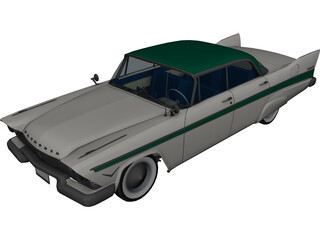 Plymouth Belvedere (1957) 3D Model