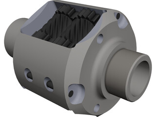 TORSEN Differential CAD 3D Model