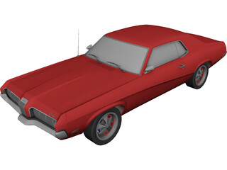 Mercury Cougar 3D Model