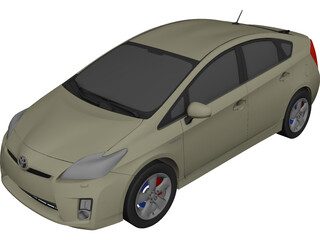Toyota Prius 3D Model 3D Preview