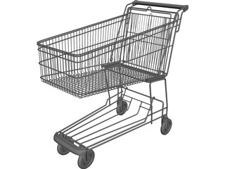 Shopping Trolley 3D Model