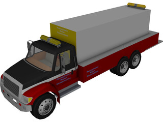 Water Conservation Truck 3D Model