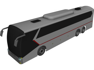 King Long Bus CAD 3D Model