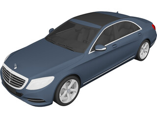 Mercedes-Benz S-Class S350 Bluetec (2014) 3D Model