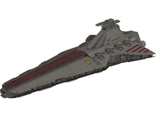 Venator Class Star Destroyer 3D Model