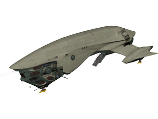 Titan Class II Cargo Ship 3D Model